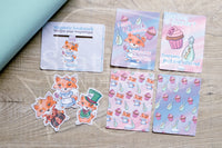 Planner decoration bundle - Foxy in Wonderland, Alice - PL cards, die cuts and magnetic bookmark