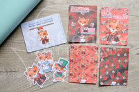 Planner decoration bundle - Foxy in Wonderland, Queen of Hearts