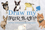 Draw my fur baby - Custom hand drawn pet stickers