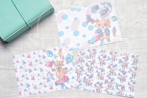 90's Foxy vellum dashboards