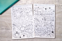 Cover your mess cover up journaling stickers - Adult coloring journal stickers