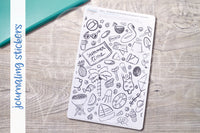 Summer your mess journaling stickers - Adult coloring journal stickers