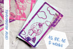 Foxy's unicorn onesie clear dashboard - Hobonichi weeks, original A6, cousin A5 and B6