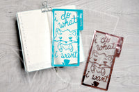 Foxy does what she wants clear dashboard - Hobonichi weeks, original A6, cousin A5 and B6