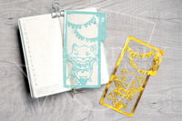 Foxy's full mouth fanions clear dashboard - Hobonichi weeks, original A6, cousin A5 and B6
