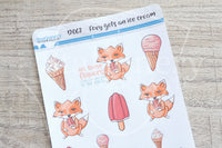 Salty Foxy, Foxy gets an ice cream decorative planner stickers