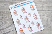 Foxy's unicorn onesie decorative planner sticker
