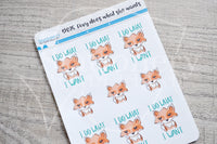 Foxy does what she wants decorative planner stickers