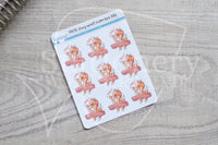 Foxy won't calm her tits decorative planner stickers