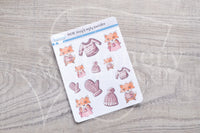 Foxy's ugly sweater decorative planner stickers