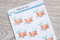 WTF Foxy decorative planner stickers