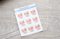 Foxy's nail file decorative planner stickers