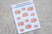 Foxy's unicorn crown decorative planner stickers