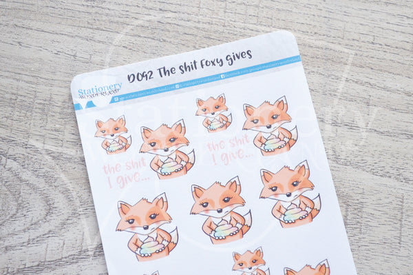 The shit Foxy gives decorative planner stickers