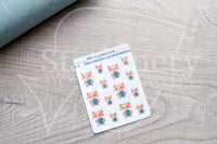 Foxy did her best decorative planner stickers
