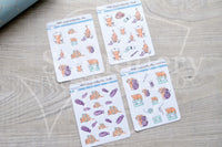 Foxy's crafting kitty decorative planner stickers