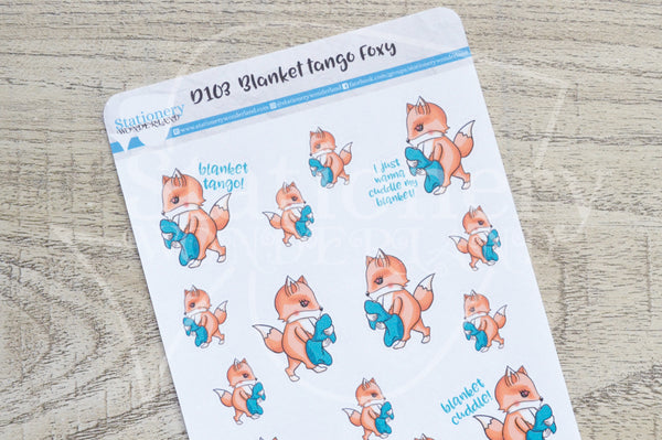 Blanket tango Foxy decorative planner stickers