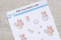 Foxy makes a wish decorative planner stickers