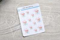 Full of shit Foxy decorative planner stickers