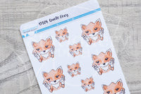 Quote Foxy decorative planner stickers