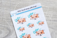 Don't mess with Foxy decorative planner stickers