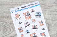 Foxy's instant memories decorative planner stickers