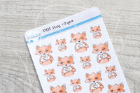 Foxy <3 you decorative planner stickers