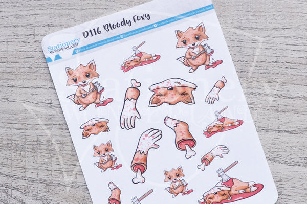 Bloody Foxy decorative planner stickers