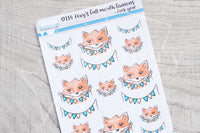 Foxy's full mouth fanions decorative planner stickers - Fuck you!