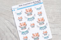 Foxy's full mouth fanions decorative planner stickers - Fuck today!