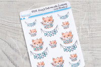 Foxy's full mouth fanions decorative planner stickers - Fuck Monday!