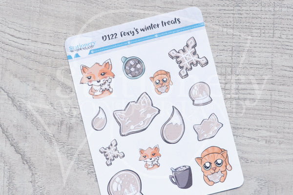 Foxy's winter treats decorative planner stickers