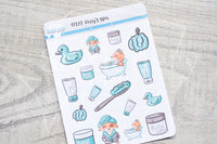 Foxy's spa decorative planner stickers