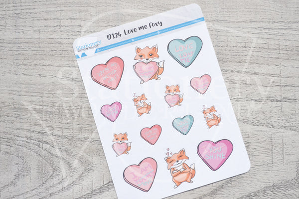 Love me Foxy decorative planner stickers