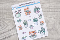 Foxy's plant babies decorative planner stickers
