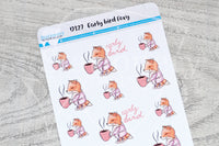 Early bird Foxy decorative planner stickers