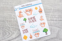 8 bits Foxy decorative planner stickers