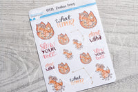 Zodiac Foxy Aries decorative planner stickers