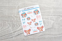 Zodiac Foxy Cancer decorative planner stickers