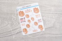 Zodiac Foxy Leo decorative planner stickers