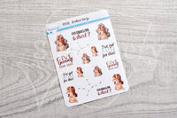 Zodiac Foxy Virgo decorative planner stickers