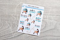 Zodiac Foxy Scorpio decorative planner stickers