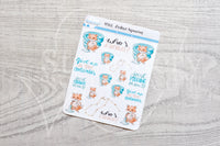 Zodiac Foxy Aquarius decorative planner stickers