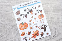 Foxy 4 seasons, Fall decorative planner stickers