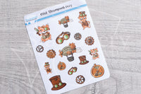 Steampunk Foxy decorative planner stickers