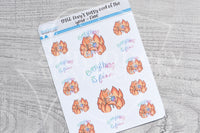Everything is fine Foxy decorative planner stickers - Foxy's Sassy End of the Year