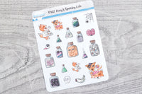 Foxy's spooky lab decorative planner stickers