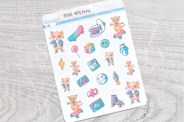 90's Foxy decorative planner stickers