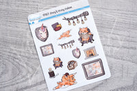 Foxy's cozy cabin decorative planner stickers