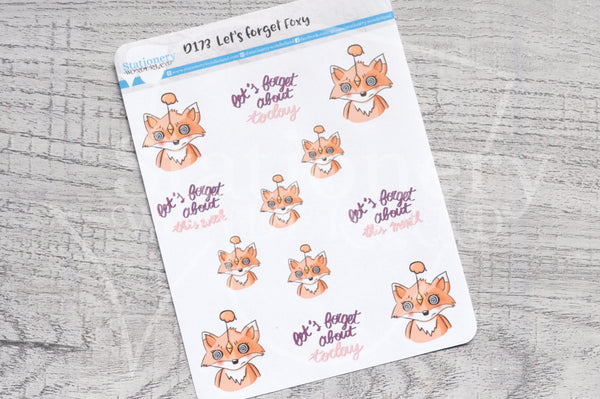 Let's forget Foxy decorative planner stickers